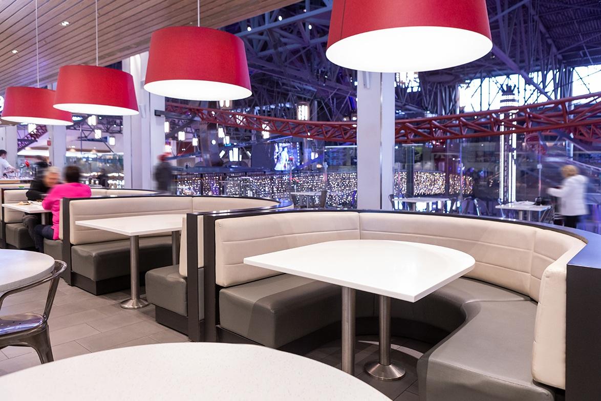 Centres commerciaux et boutiques - Banquettes en cuir